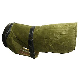 Fløjlsbukser & læder frakke grøn 14