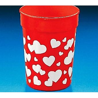 12 Heart Plastic Cups for Party Bags | Kids Party Cups