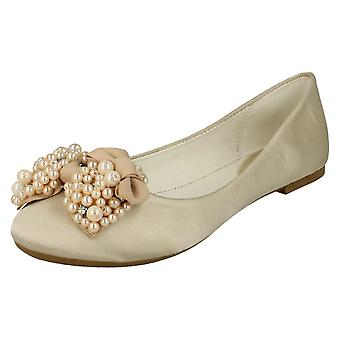 Ladies Spot On Bow Ballerina Flats