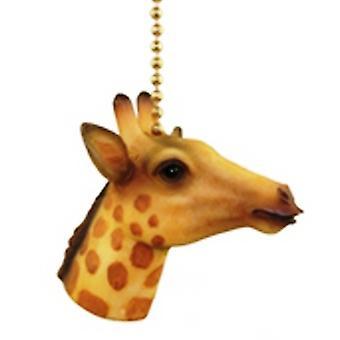 Jungle Safari Giraffe Kids Nursery Fan Light Pull