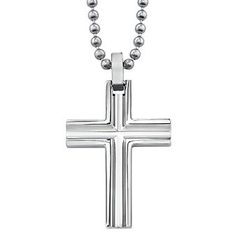 Beveled Titanium Cross Pendant
