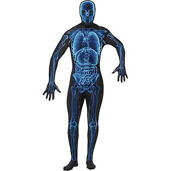Second skin X ray X-ray skeleton costume Stretchanzug