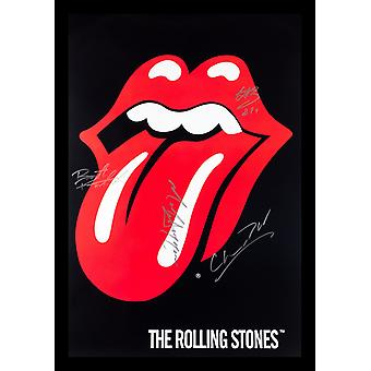 Rolling Stones Signed Poster