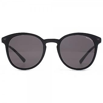 Police Keyhole Round Sunglasses In Matte Black Polarised