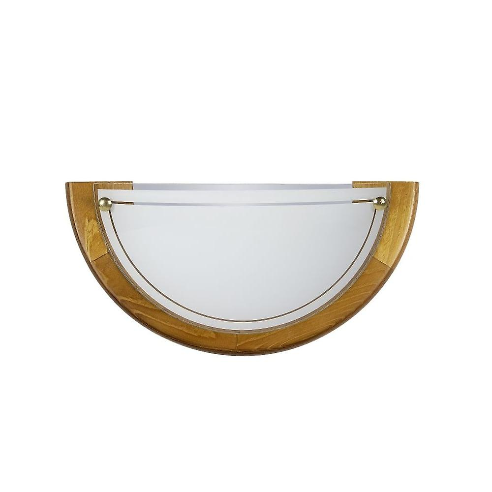 Lucide Half Glass Bowl Wall Light