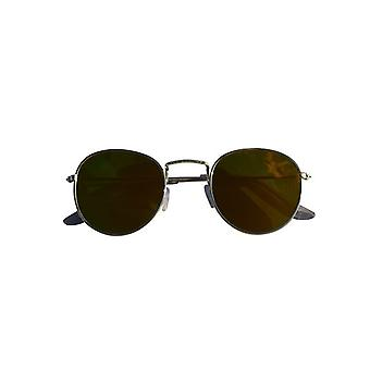 Cool urban sunglasses with yellow glass silver mirror