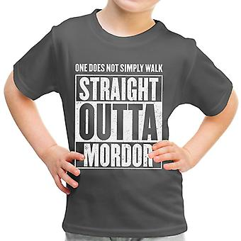 Straight Outta Mordor Lord Of The Rings Kid's T-Shirt