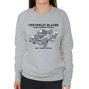 Haynes Owners Workshop Manual Chevrolet Blazer zwart vrouwen Sweatshirt