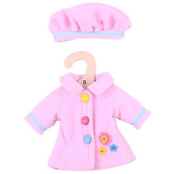 Bigjigs Toys Pink Rag Doll Coat and Hat for 28cm Soft Doll