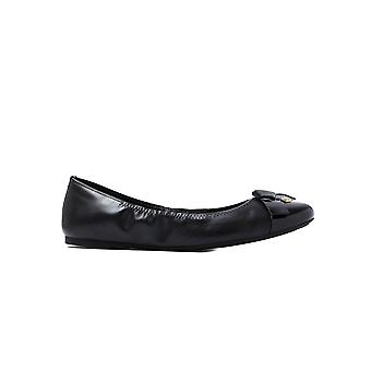 MICHAEL Michael Kors Women's Mellie Leather Ballerina Pumps - Black