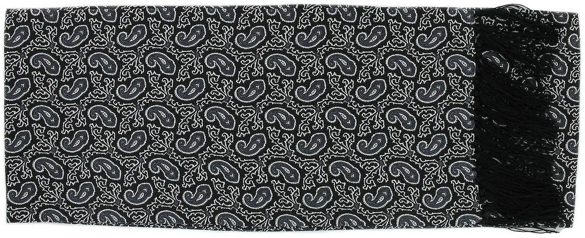 Michelsons of London Small Paisley Silk Scarf - Black