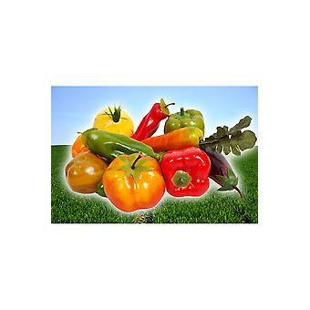 Party favors  plastic vegetables