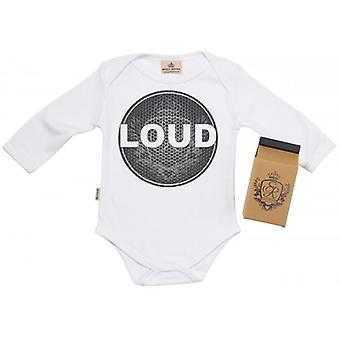 Spoilt Rotten Loud Baby Grow 100% Organic In Milk Carton