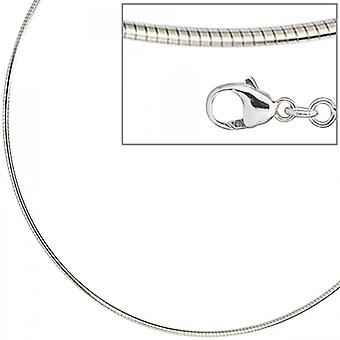 Necklace in 925 /-s 1.5 mm rhodium plated necklace silver 45 cm lobster clasp