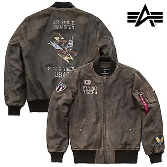 Alpha industries MA-1 jacket VF flying tiger leather