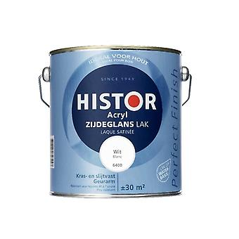 Histor Perfect Finish Acryl zijdeglanslak wit 6400 2,5 l