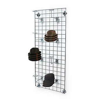 Wall Mounted Gridwall Mesh Panel - 8 x Hut Arme