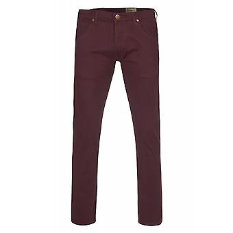 Wrangler pants of jeans mens stretch trousers Spencer Red