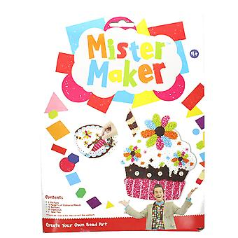 Mister Maker Cupcake Cherry Bead Art with Picture, Beads & Glue Pen