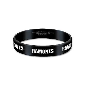 Ramones Wristband classic band Logo hey ho new Official 10mm black Rubber