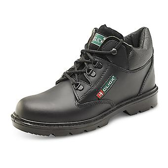 Click Mid Cut Boot Leather Safety Book With Midsole Black - Cf4Bl