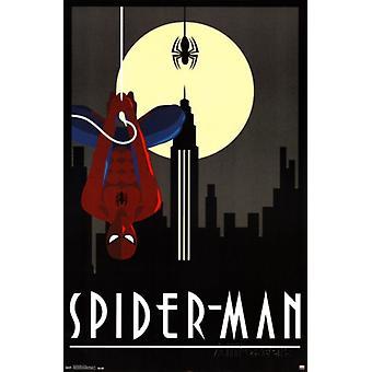Spiderman Art Deco Poster Poster Print