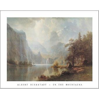 in the Mountains Poster Print by Albert Bierstadt (28 x 22)