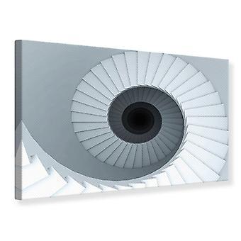 Canvas Print 3D Spiral Staircase