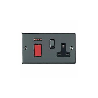 Hamilton Litestat Hartland svart Nickel 45DP + Neon + SS1 BK/röd/SV