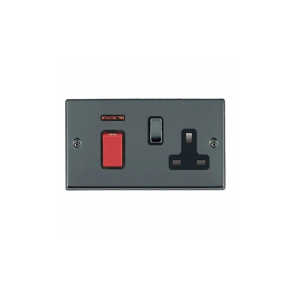 Hamilton Litestat Hartland noir Nickel 45DP + Neon+SS1 BK rouge BL