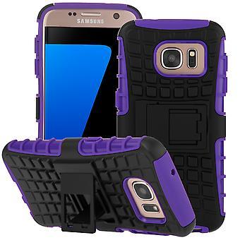 Yousave Zubehör Samsung Galaxy S7 stehen Combo Case - lila