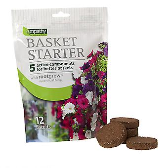 Hanging Basket Fertiliser Feed Biscuits with Slow-Release Fertiliser 12 Pack