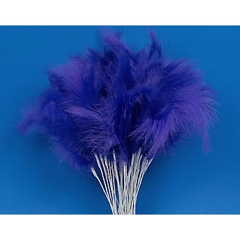 36 Purple Feather Spray Picks for Floristry & Craft Projects