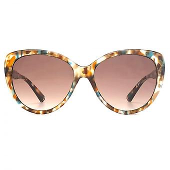 French Connection Cateye Sunglasses In Matte Multi-coloured Tortoiseshell