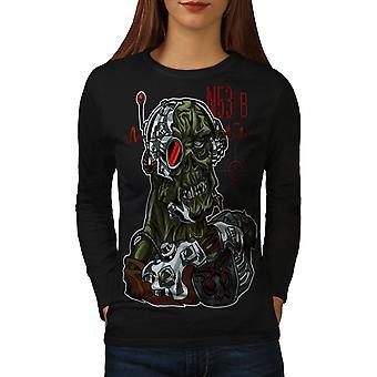 Gamer Deadman Play Women BlackLong Sleeve T-shirt | Wellcoda