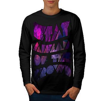 Geometrische einzigartige Männer BlackLong Sleeve T-shirt | Wellcoda