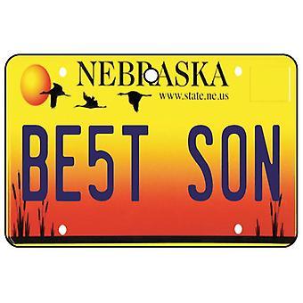Nebraska - Best Son License Plate Car Air Freshener