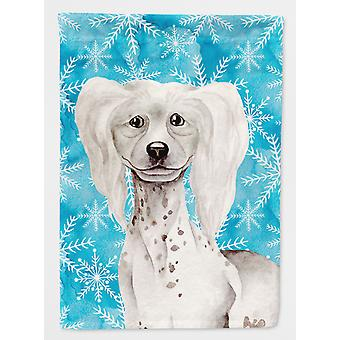 Carolines Treasures  CK1415CHF Chinese Crested Winter Flag Canvas House Size