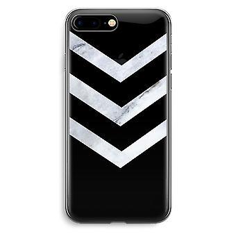 iPhone 7 Plus transparant Case (Soft) - marmer pijlen
