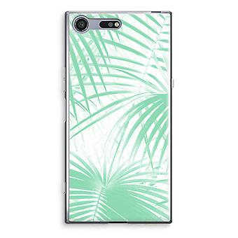 Sony Xperia XZ Premium Transparent Case (Soft) - Palm leaves