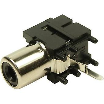 RCA connector Socket, horizontal mount Cliff FC6837 1 pc(s)