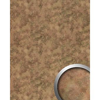 Wall Panel metal optics WallFace 20191 OXIDIZED autumn wall covering vintage look metallic accents adhesive abrasion resistant Brown Brown-grey 2.6 m2