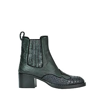 Car shoe ladies MCGLCAS02016I green leather ankle boots