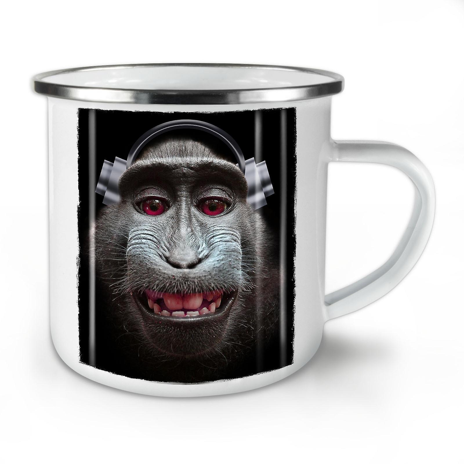 Singe Émail OzWellcoda Chanson Café Animal Whitetea Mug10 Nouvelle vN8nwOmy0
