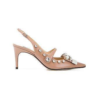 Sergio Rossi women's A81190MFN3365756 pink leather sandals