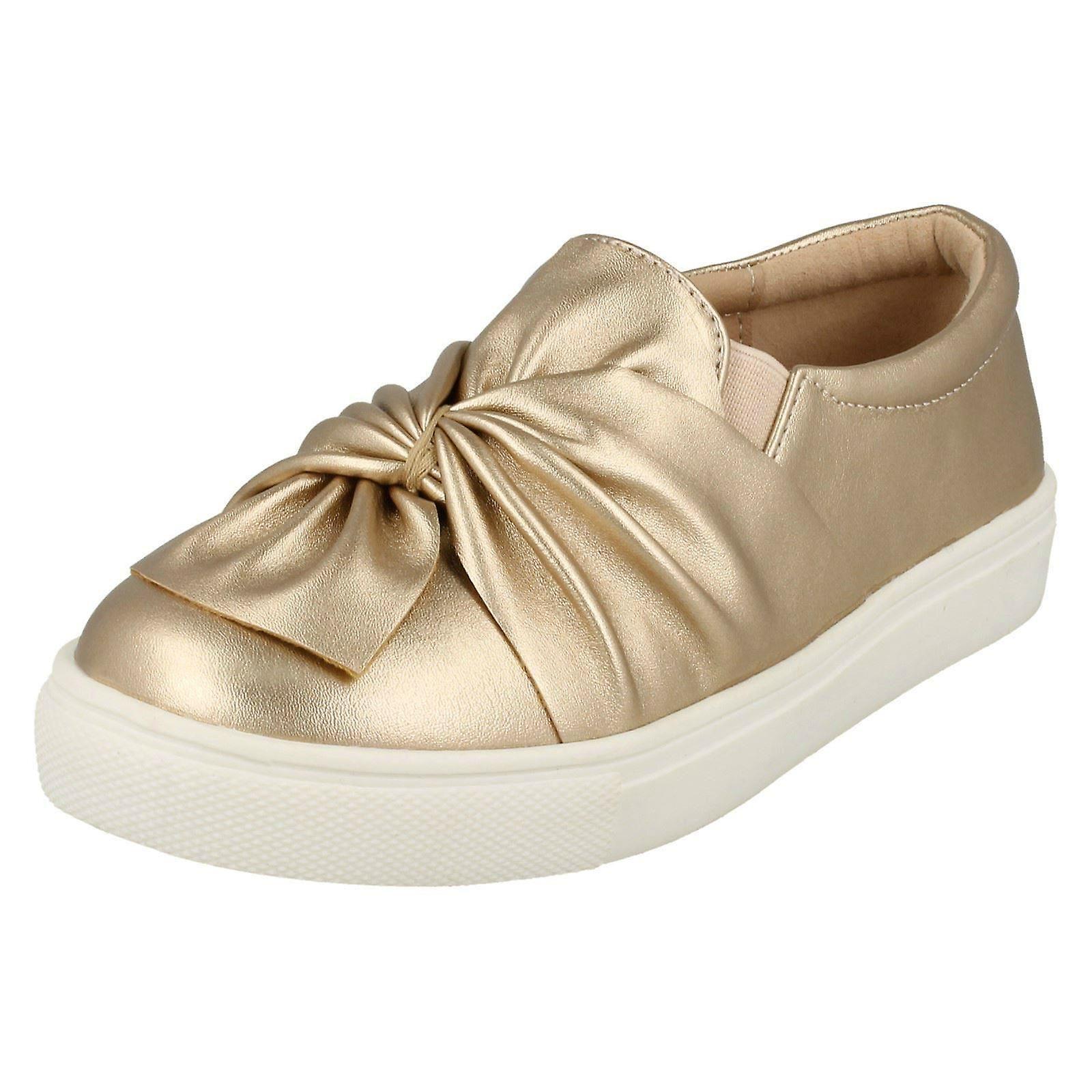 Mädchen-Spot auf Twist Vamp flache Schuhe H2455