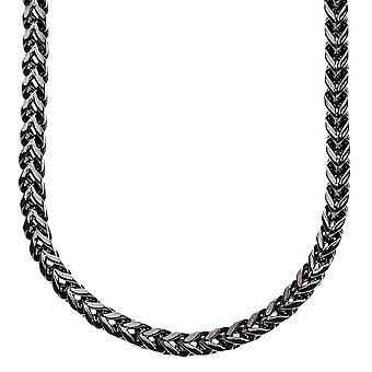 Iced out stainless steel BOXED cord chain - 4 mm black