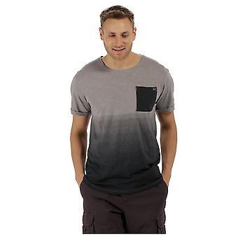 Regatta Herre Tyren Coolweave bomuld kontrast løs Fit afslappet T Shirt