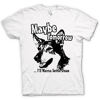 Womens T-shirt - Littlest Hobo - Maybe Tomorrow - Funny