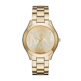 Michael Kors MK3590 mince piste dames Doré Crystal Watch